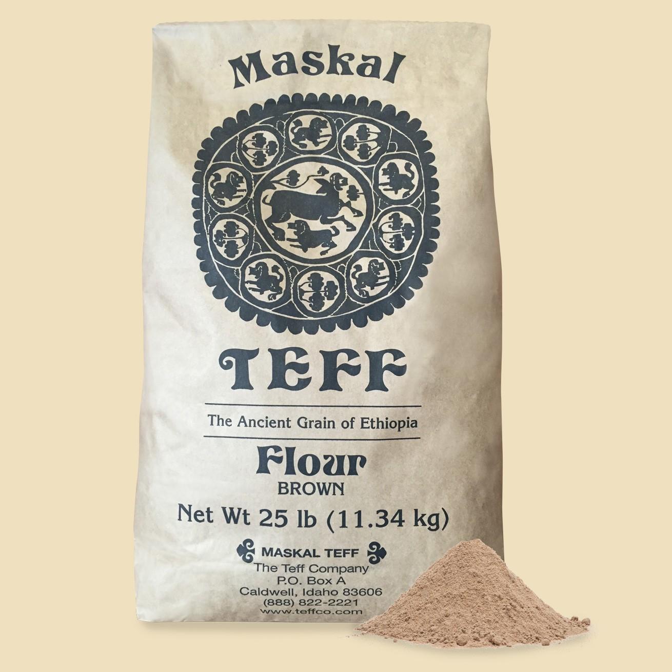 Maskal Teff Flour Brown | Iowa African Market